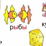 Карточки с изображением слов с буквой Ы