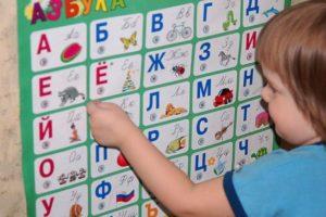 Плакаты с алфавитом можно повесить на стене